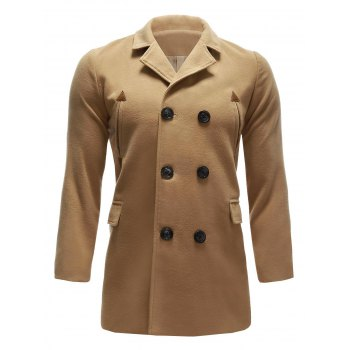 Pocket Wool Blend Back Vent Pea Coat