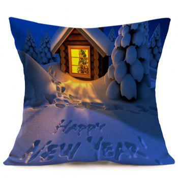 New Year Christmas Cushion Throw Pillow Cover