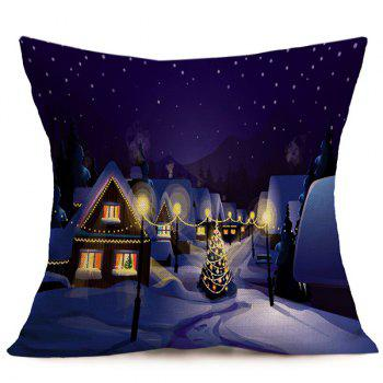 Peaceful Night Merry Christmas Cushion Throw Pillow Cover