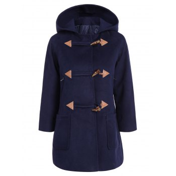 Hooded Duffle Woolen Coat
