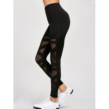 Mesh Panel Leggings - ONE SIZE ONE SIZE