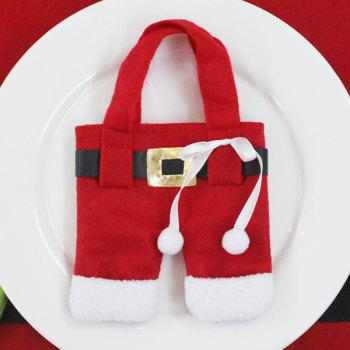 Christmas Santa Pants Knives and Forks Bag