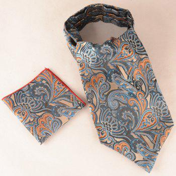 Paisley Floral Square Pocket Hanky and Cravat