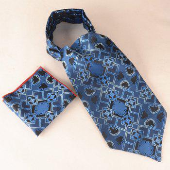 Geometry Jacquard Square Pocket Hanky and Cravat