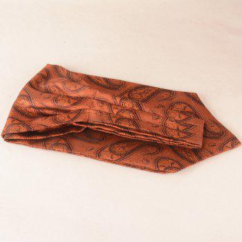 A Set of Cashew Floral Print Square Pocket and Cravat - BROWN