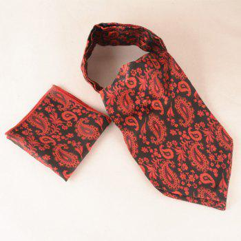 Cashew Floral Pattern Square Pocket Cravat Tie Set