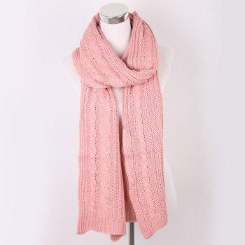 Oversized Twisted Knitted Scarf