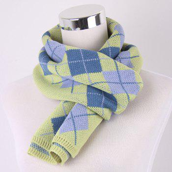 Checked Knitted Scarf