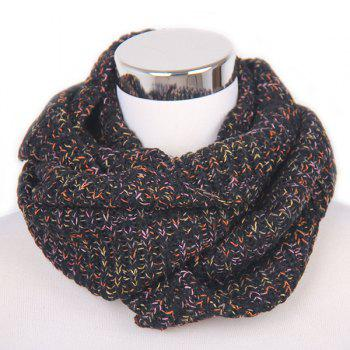 Color Mixed Knitted Infinity Scarf