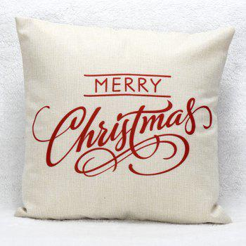 Household Merry Christmas Sofa Pillow Case