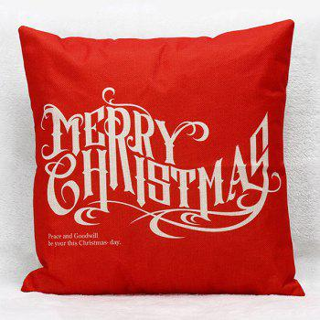 Merry Christmas Letters Household Sofa Pillow Case