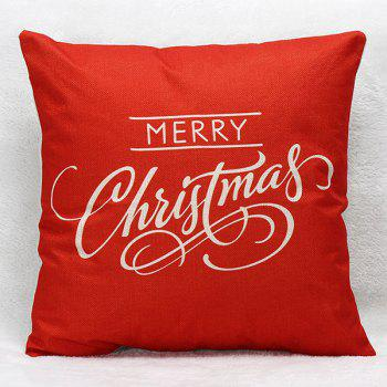 Case Merry Christmas Letters Sofa Pillow