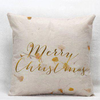 Flower Letters Christmas Pillow Case