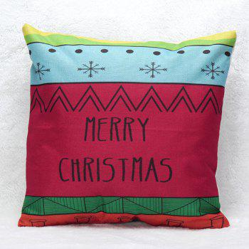 Christmas Letters Printed Sofa Pillow Case