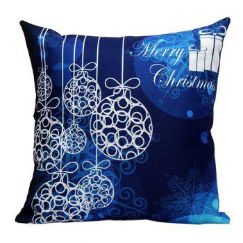 Merry Christmas Printed Sofa Pillow Case