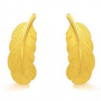 Feather Shape Drop Earrings