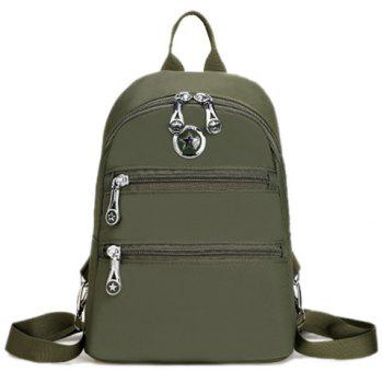 Nylon Metal Zips Backpack