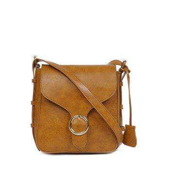 Retro Buckle PU Leather Cross Body Bag