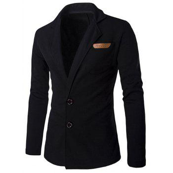 Slim Fit Lapel Single Breasted PU Pocket Jacket