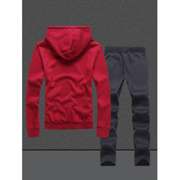 Native Printed Pullover Hoodie and Sweatpants Twinset - M M
