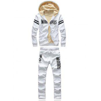 Varsity Stripe Printed Hoodie and Sweatpants Twinset