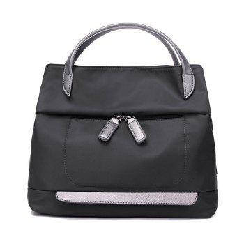 Casual PU Splicing Nylon Tote