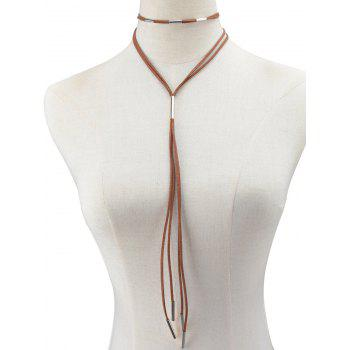 Faux Leather Rope Necklace