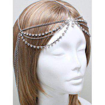 Rhinestone Layered Forehead Chain