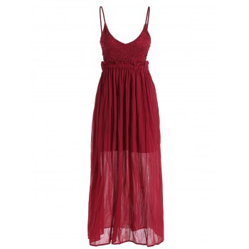 Maxi Backless Chiffon Slip Summer Dress