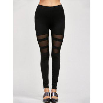 Mesh Insert Stretchy Leggings