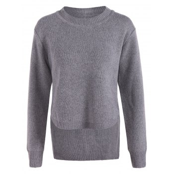 Irregular Crew Neck Sweater