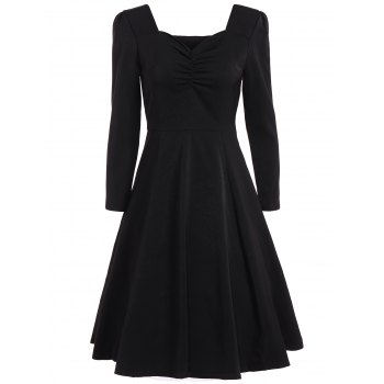 Sweetheart Neckline Swing Flare Dress