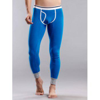 U Convex Pouch Color Block Long Johns Pants