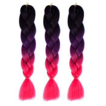 Heat Resistant Fiber 1 Pcs Multicolor Long Braided Hair Extensions