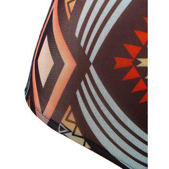 Mesh Surfer Tribal Print One-Piece Maillots de bain - multicolorcolore XL