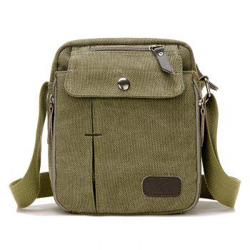 Casual Canvas Multi Zpis Corssbody Bag - ARMY GREEN ARMY GREEN