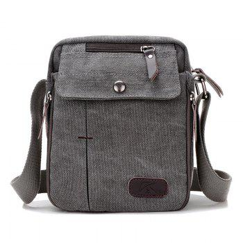 Casual Canvas Multi Zpis Corssbody Bag - GRAY GRAY