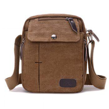 Casual Canvas Multi Zpis Corssbody Bag