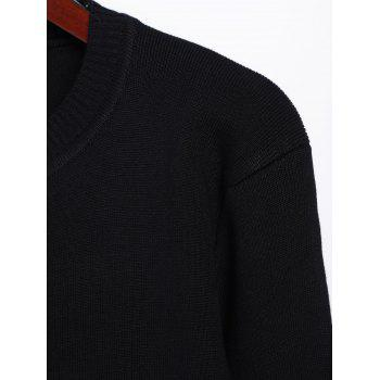Pull long en maille - Noir ONE SIZE
