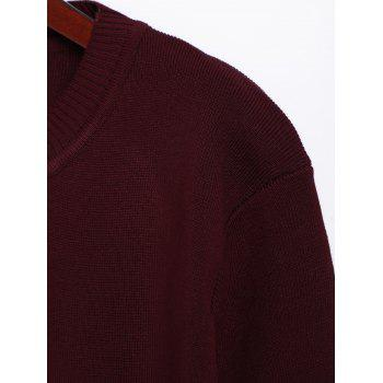 Pull long en maille - Rouge vineux ONE SIZE