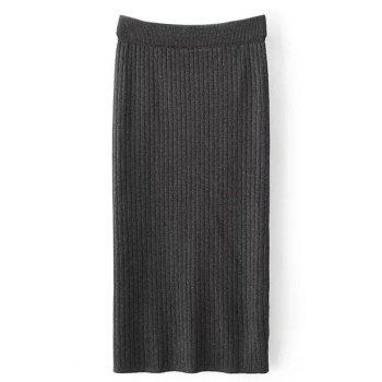 Knitted Sheath Midi Skirt