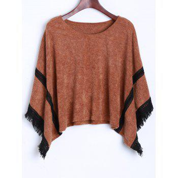 Tassel Knitted Dolman Sweater