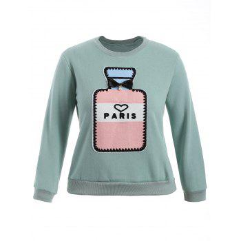 Paris Plus Size Pullover Sweatshirt