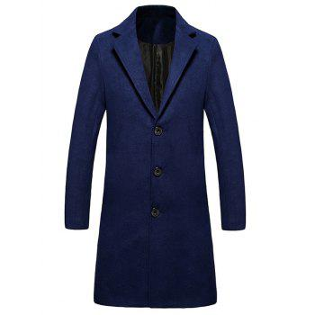 Lengthen Single Breasted Warmth Woolen Coat