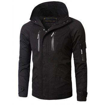 Zipper Design Hooded Thicken Cotton Jacket