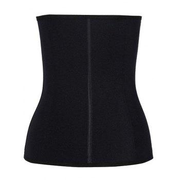 Steel Strapless Tight Waist Training Corset - BLACK BLACK
