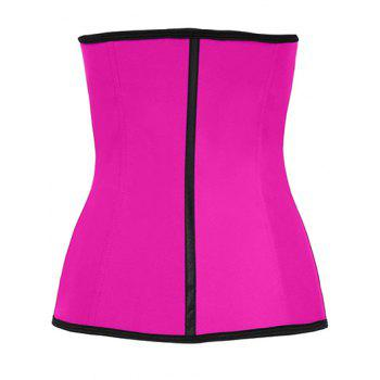 Steel Strapless Tight Waist Training Corset - ROSE RED ROSE RED