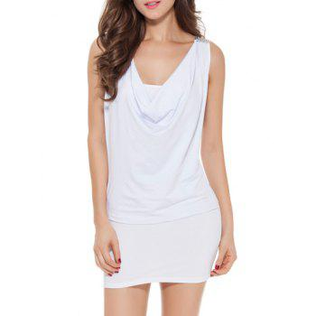Crow Neck Bodycon Mini Dress