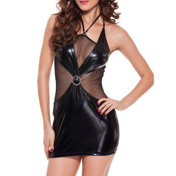 Halter Mesh Club See-Through Bodycon Mini Dress