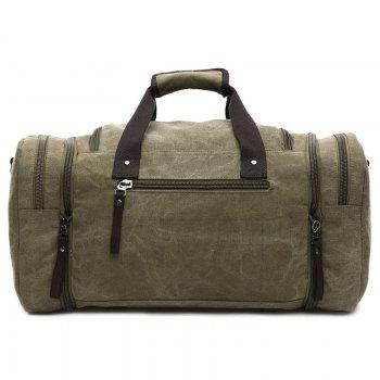 Canvas Multi Zippers Weekend Bag - KHAKI